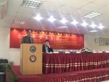 特邀嘉宾中国驻孟加拉国大使馆李光军参赞给大会致辞